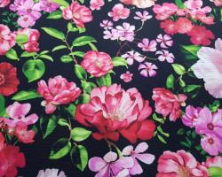 Crepe Flowers Black Background