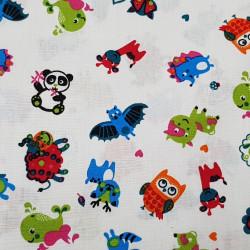 Cotton Animals Colorful