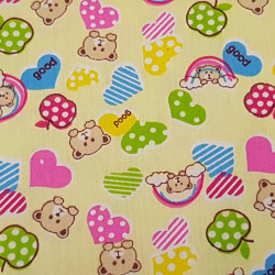 Cotton Bears and Hearts