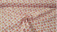 Cotton Starfish fabric - Cotton fabric with starfish drawings on a light background. The fabric is 110cm wide and its composition is 100% cotton.