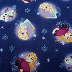 Cotton Disney Frozen 2 Anna Elsa Olaf Blue