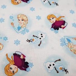 Cotton Disney Frozen 2 Anna Elsa Olaf White