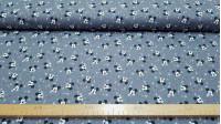 Tela Algodón Disney Mickey Rayos Estrellas Gris - Tela de algodón licencia Disney con dibujos de caras de Mickey sobre un fondo de color gris con rayos y estrellasde varios colores. La tela mide 140cm de ancho y su composición 100% algodón.