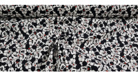 Cotton Disney Mickey Faces Allover White fabric - Disney licensed cotton fabric with drawings of Mickey's faces close together and in various positions on a white background. The fabric is 110cm wide and its composition is 100% cotton.
