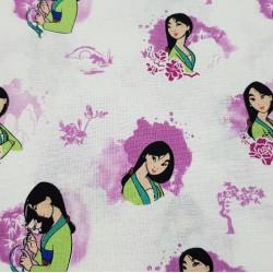 Disney Cotton Mulan Pink
