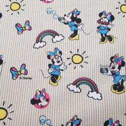 Cotton Disney Minnie Rainbow