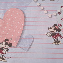 Cotton Disney Mickey Minnie Love