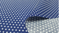Tela Algodón Estrellas Diminutas Poppy - Tela de algodón tipo popelín con dibujos de estrellas diminutas sobre varios fondos a elegir. La tela mide 150cm de ancho y su composición 100% algodón.