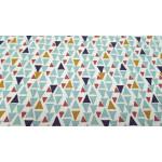 Algodón Triángulos Colores
