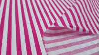 Striped Cotton fabric - Cotton fabric with stripes of approximately 5mm. The fabric is 150cm wide and its composition is 100% cotton.