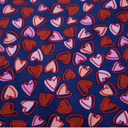 Cotton Hearts Allover Navy