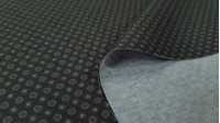 Cotton Circles fabric - Organic cotton fabric with patterns of circles in various shades of color. The fabric is 150cm wide and its composition is 100% cotton.
