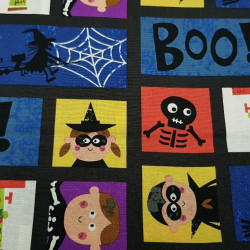 Cotton Halloween Boo Squares