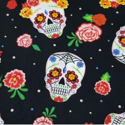 Cotton Skulls Colors Black