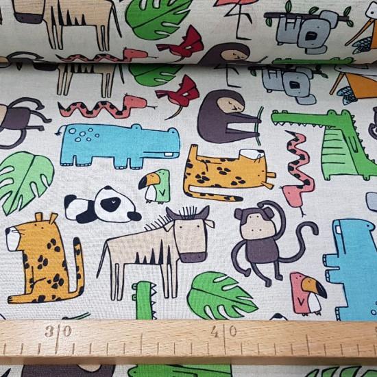 Decorative Cotton Animals fabric -