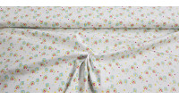 Cotton Rainbow Stars fabric - Children's cotton fabric with drawings of rainbow lines, stars, polka dots... on a white background. The fabric is 150cm wide and its composition is 100% cotton.