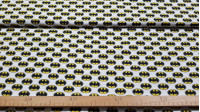 Cotton Batman Logos fabric - Licensed cotton fabric with Batman logo drawings on a white background. The fabric measures between 140-150cm wide and its composition is 100% cotton.