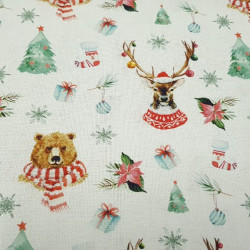 Cotton Christmas Animals with Scarf