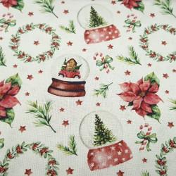 Cotton Christmas Crystal Balls