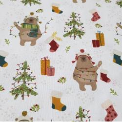 Cotton Christmas Bears Decorating