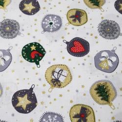 Cotton Christmas Balls Ornaments Stars White
