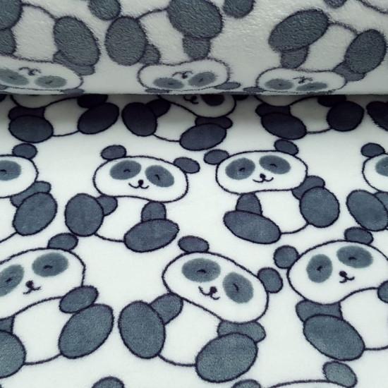 Tela Polar Coralina Ositos Panda - Tela de polar tipo coralina muy suave de temática infantil con dibujos de osos panda.