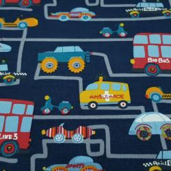 Cotton Jersey Traffic City Blue