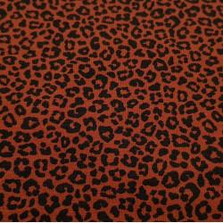Cotton Jersey Animal Print Terracotta