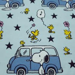 Cotton Jersey GOTS Snoopy Motorhomes Stars