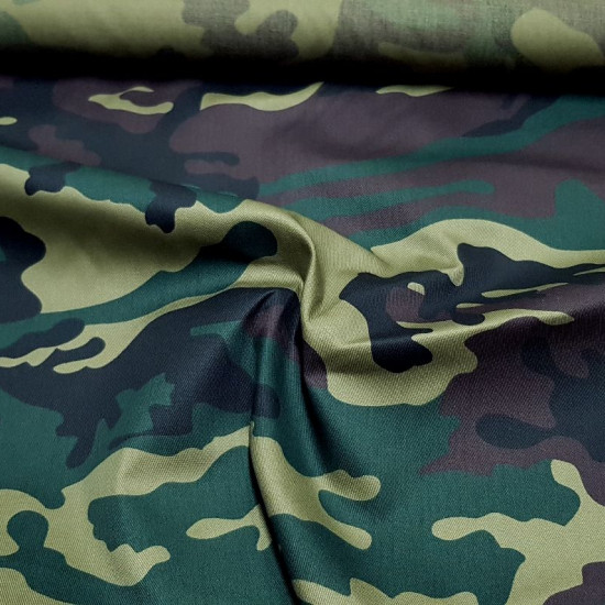 Twill Camouflage fabric - Strong and resistant twill fabric with camouflage print in green and brown tones
