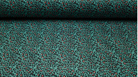 Pul Animal Print A fabric - Pul fabric waterproof and breathable at the same time with animal print patterns contrasting various colors. The printed pulfabric is OekoTex certified, respectful of the skin of the little ones, without toxic materials