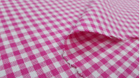 Gingham Cotton 4mm fabric - Cotton fabric with the typical gingham pattern. Thesize of the squareis 4mm. The fabric is 150cm wide and its composition is 100% cotton.