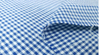 Gingham Cotton 2mm fabric - Cotton fabric with a 2mm Vichy square pattern. The fabric is 145cm wide and its composition is 100% cotton.