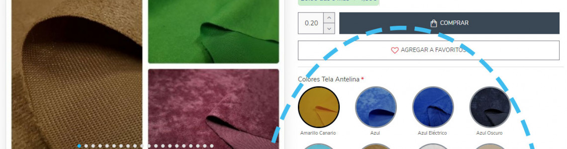 Fabric product pages improvements