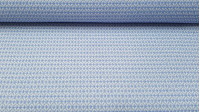 Cotton Brocade Blue Crosses fabric - Brocade cotton fabric with drawings of crosses in blue and white colors. Ideal fabric for ceremonies, children's clothing and decoration. The fabric is 140cm wide and its composition 100% cotton.