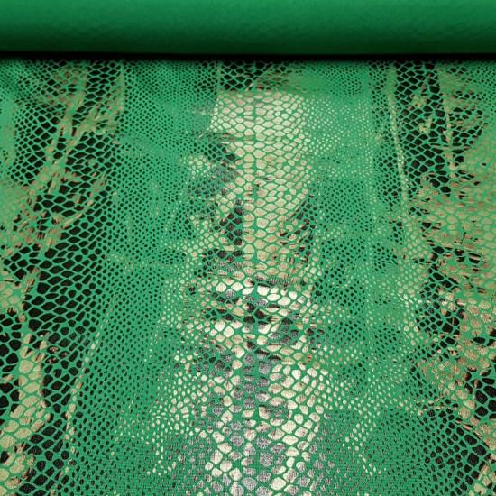 Tela Lycra Serpiente - Tela elástica de lycra con motivos de piel de serpiente en color negro y verde. La tela de lycra serpiente es ideal para confección de disfraces, para baile,espectáculos… La tela mide 150cm de ancho y su composición