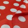 Lunares Blancos Fondo Rojo
