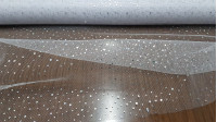 Tulle Shiny Drops fabric - White tulle or net fabric with bright laminated drops that make multicolored / litmus effect. It is a perfect fabric for decorations and costumes of fairies, princesses ... The fabric is 140cm wide and its compositio