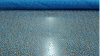 Tulle Drops Snow Turquoise fabric - Tulle fabric with drops or round flakes in turquoise blue. This tulle fabric is a good choice for snow queen costume, frozen, princess dresses ... The fabric is 150cm wide and its composition is 100% polyester.