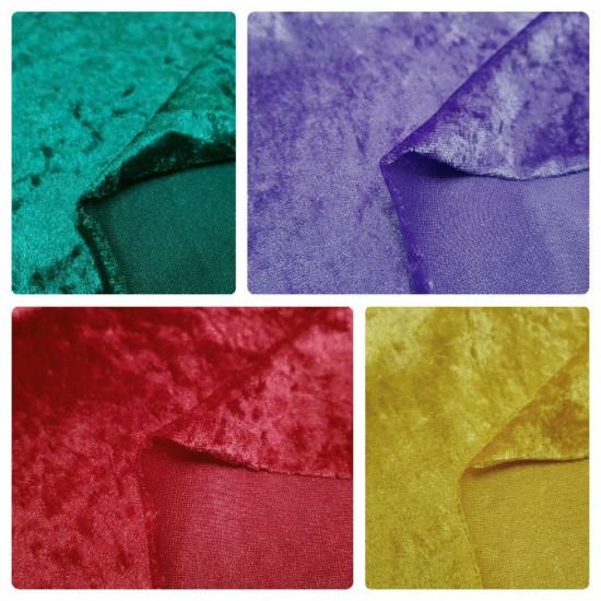 Tela Terciopelo Disfraz Martele - Tela de imitación terciopelo, brillante y con caída. Solución económica Ideal para confeccionar disfraces y para usar en decoración.