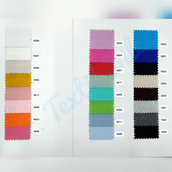 Organic Jersey Uni fabric - Organic jersey fabric (GOTS) in a wide variety of colors to choose from. Jersey fabric is widely used in making T-shirts, pants, pajamas... and accessories such as bows, headbands, scrunchies... The fabric is 150cm w