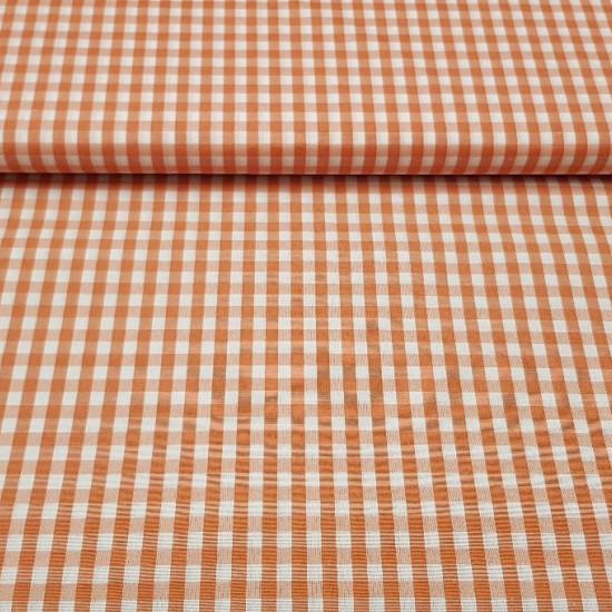 Tela Vichy Cuadros Grandes 6.5mm - El tejido de vichy se utiliza mucho en mantelería, cortinas para la cocina, batas de parvulario y otras manualidades y decoraciones. El cuadro mide 6,5mm La tela mide 160cm de ancho y su composición 70% Poliester –3