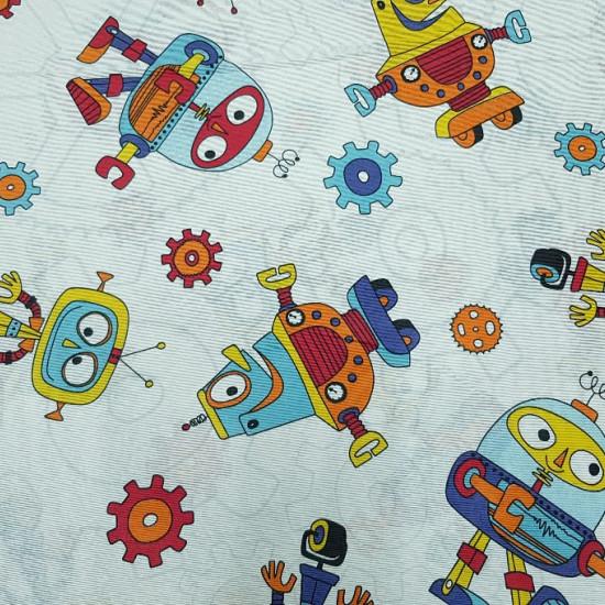 Loneta Robots fabric -