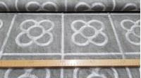"""Tela Loneta Adoquines Barcelona - Tela de loneta con dibujos de los famosos adoquines o panots de la ciudad de Barcelona. A estos adoquines también se les suele llamar la """"flor de Barcelona"""", símbolo de la ruta del modernismo de la ciudad condal"""