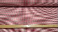 Tela Loneta Cuadros Vichy - Tela de loneta con los típicos cuadros de vichy, en colores rojo oscuro y blanco. Con esta tela de loneta podrás confeccionar grandes creaciones, gracias al ancho de 280cm. La tela mide 280cm de ancho y su composició