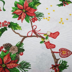 Canvas Christmas Branches Holly