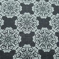 Canvas Mandalas White Dark Gray