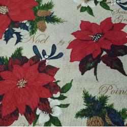 Canvas Christmas Poinsettia