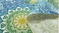 Tela Loneta Mandalas Colores Degradado - Tela de loneta decorativa con dibujos coloridos de mandalas en varios tonos haciendo efecto degradado. La tela mide 280cm de ancho y su composición 50% poliester- 50% algodón.
