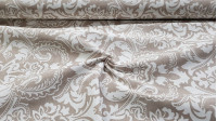 Canvas Baroque Ornamental fabric - Decorative canvas fabric with white ornamental drawings on a rustic culla-like background. Canvas is an ideal fabric for decorations and making accessories such as cushions, bags, purses, and much more ... The fabric